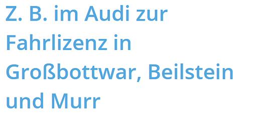 zeiteffizient für 71554 Weissach (Tal)